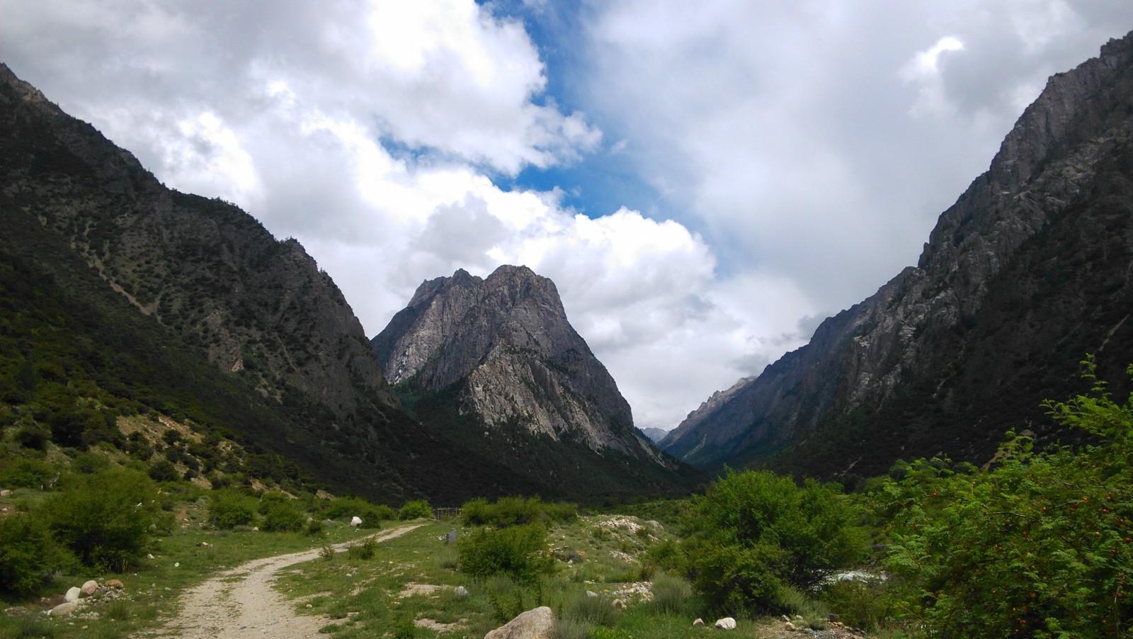 小路通向山谷深处