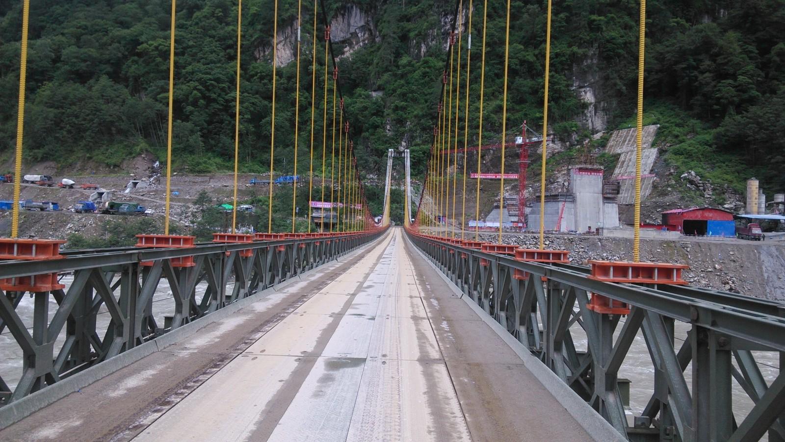 雄伟的铁索桥